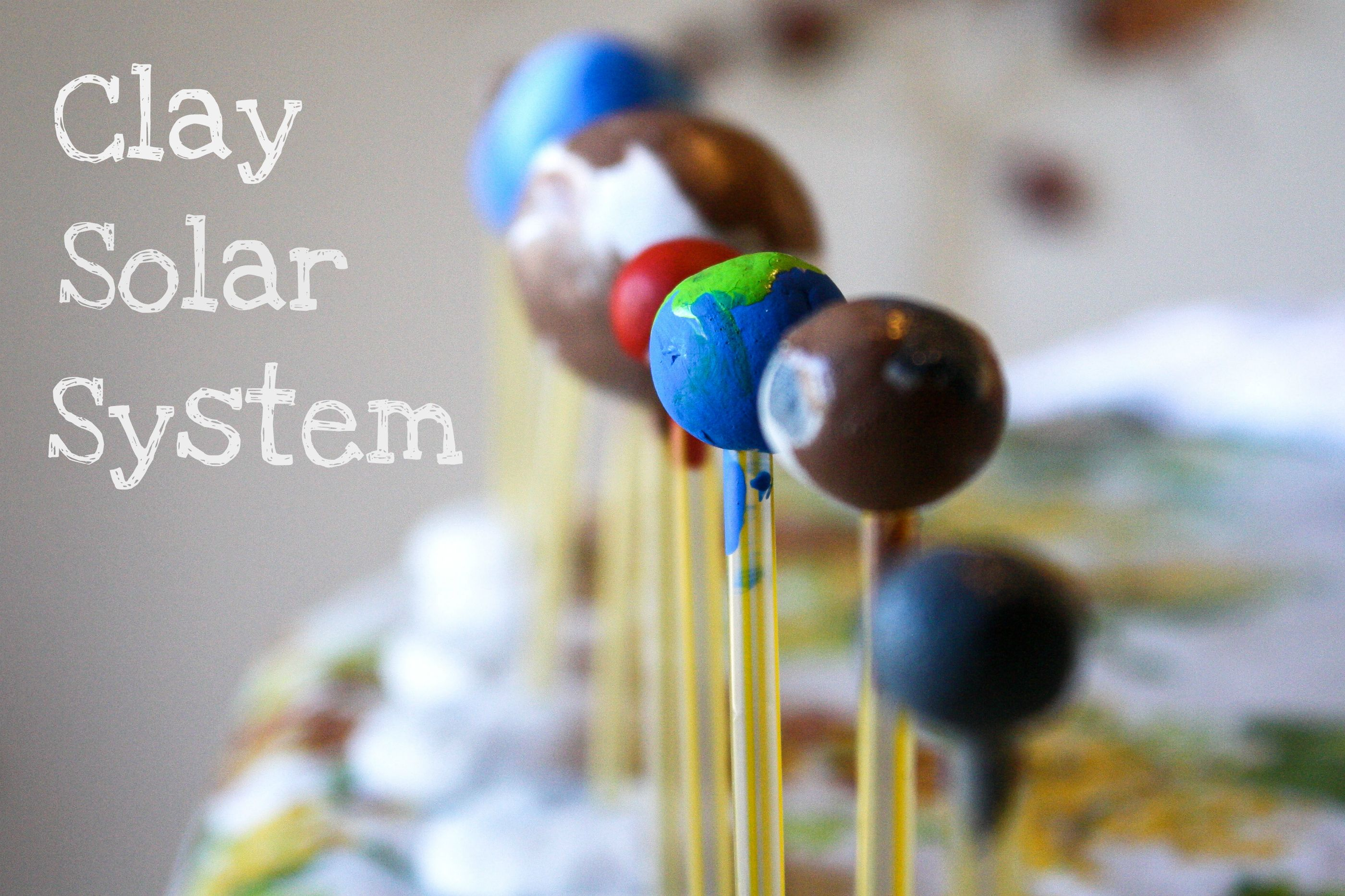 a solar system made of clay - photo #5