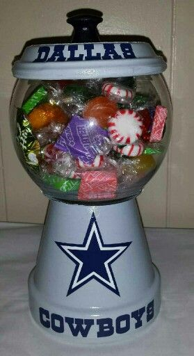 33e33354 Dallas Cowboys Candy Jar   Candy Dishes   Dallas cowboys crafts ...