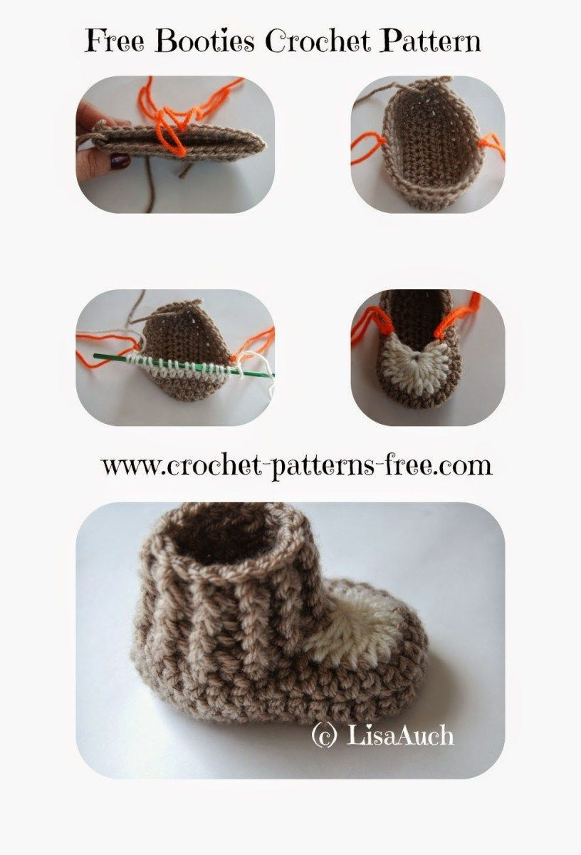 These are possibly the cutest crochet baby booties pattern I have ...