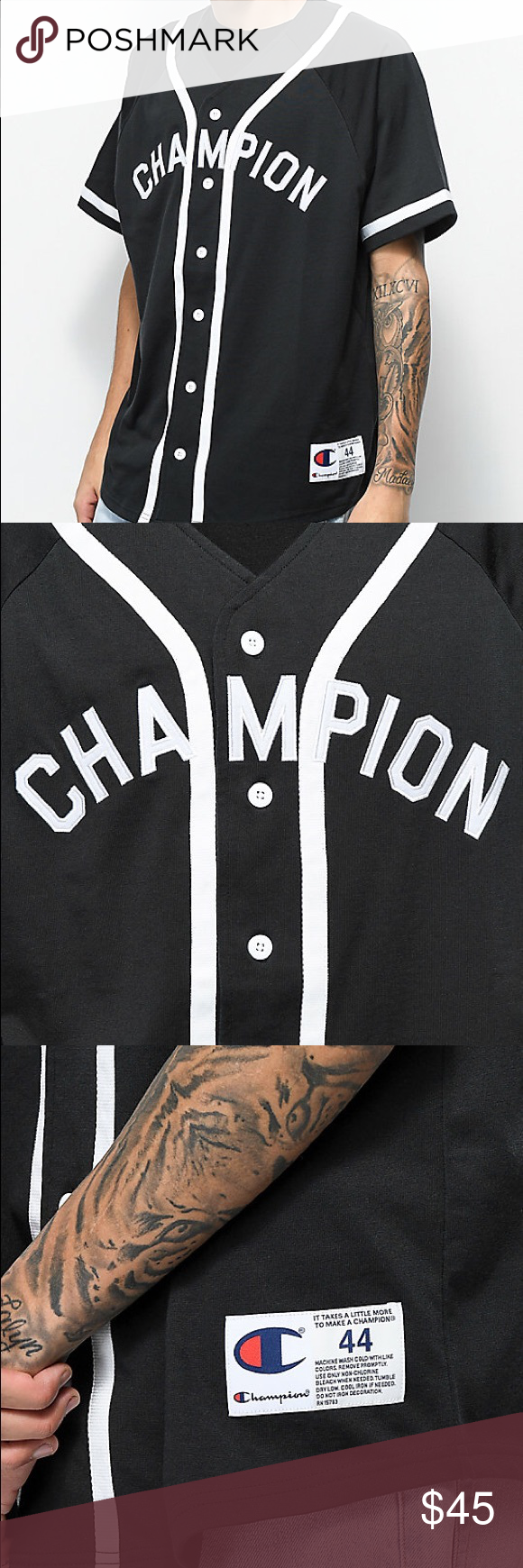 57ea4ec44bdc champion braided baseball jersey champion braided baseball jersey Brand new  but no tags Champion Shirts