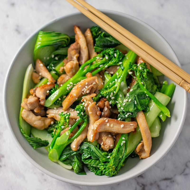 Keto Garlic Chicken Stir Fry - Quick & Easy Dinner images