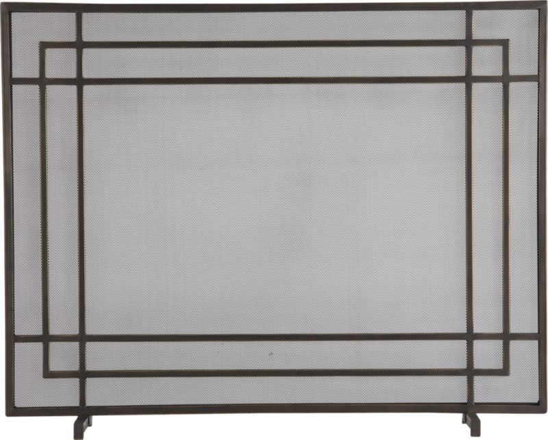 Antiqued 3 Panel Brass Fireplace Screen For The Home