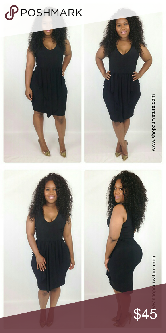 Plus Size Ruffled Black Tank Dress Great For Summer Black Tank Dress
