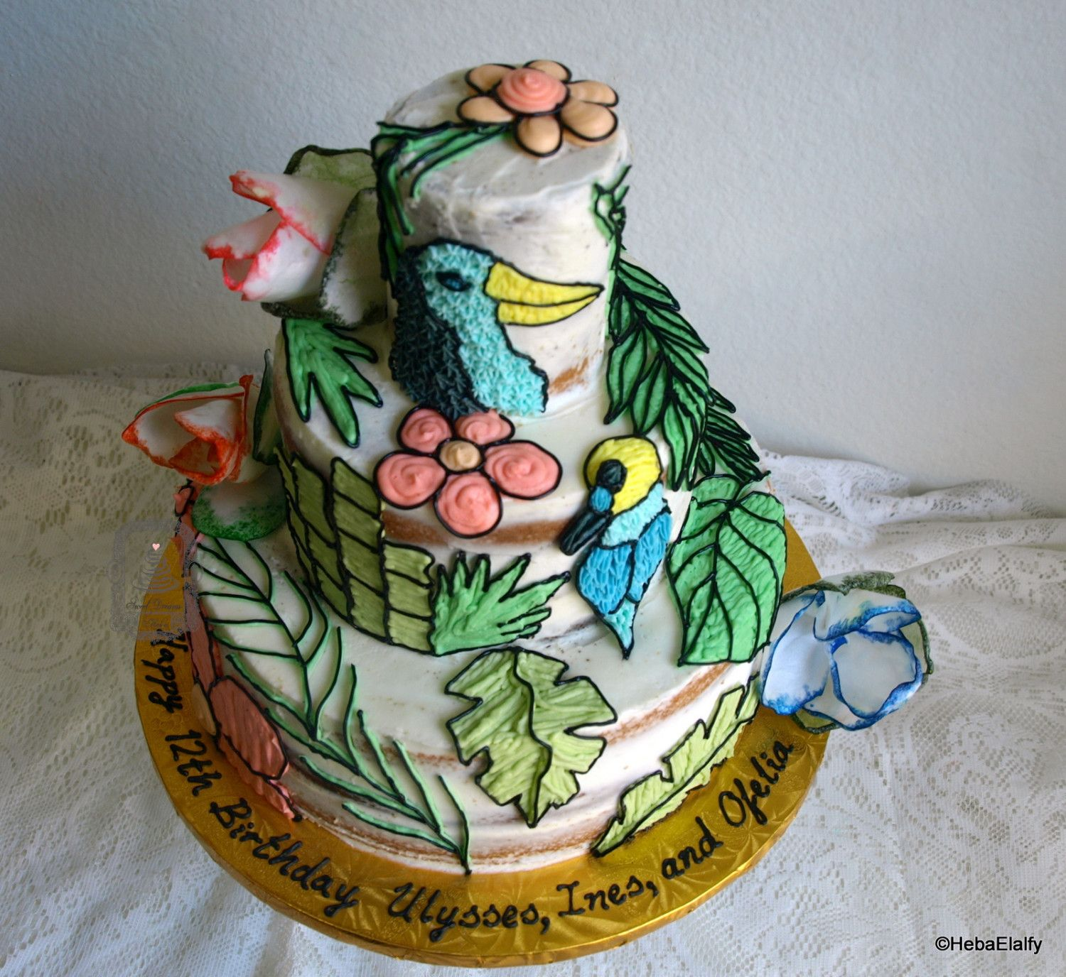 pacific stone wedding cake disposable