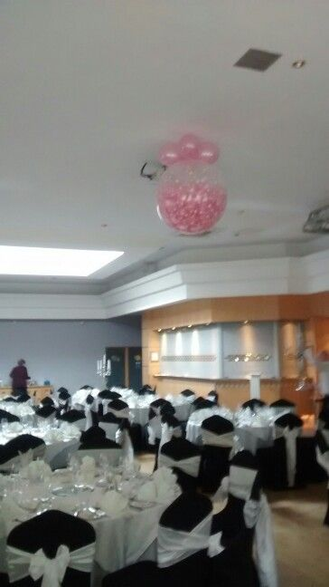 First Dance Balloon Pop With Magic Wand And See The Balloon Fall On The Bride Groom Balloons Bride Groom Wedding