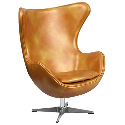 Fritz Hansen Egg Chair Prijs.Gold Leather Egg Chair With Tilt Lock Mechanism Flash Fur Https