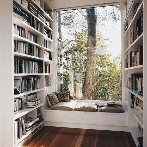 17 Home Libraries That Look Like Something Out Of A Fairytale is part of My dream home, Dream house, Window seat design, Home libraries, House, Home - You know what they say, reading is fundamental
