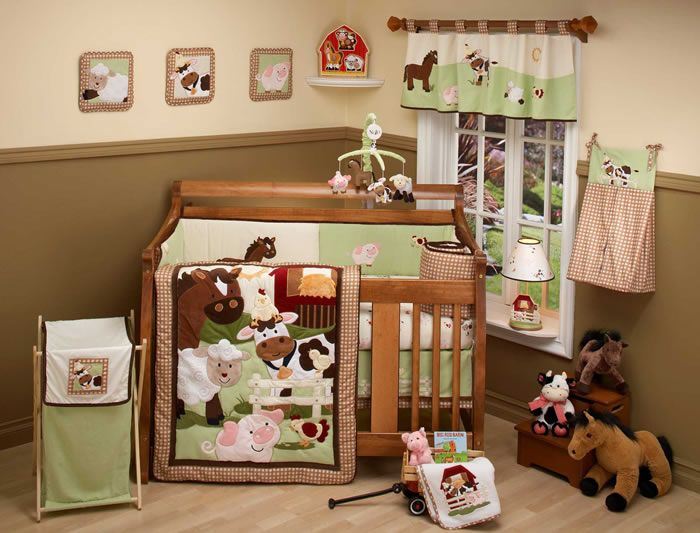 Nojo Farm Babies Crib Bedding Set And Nursery Accessory Items Free Shipping