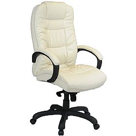 Parma Cream Executive Leather Office Chairs Chair Leather Home