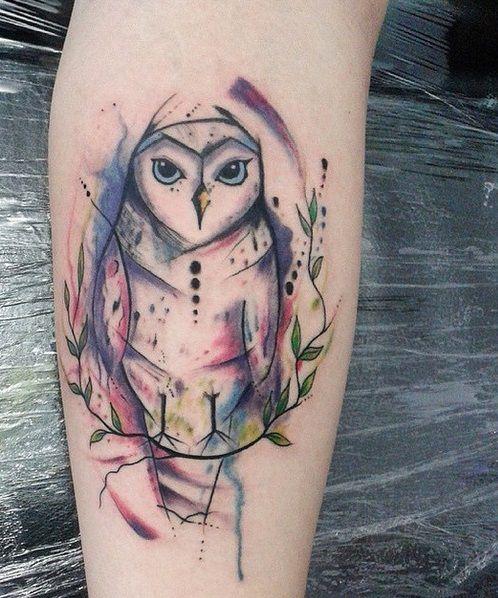 tattoo coruja owl