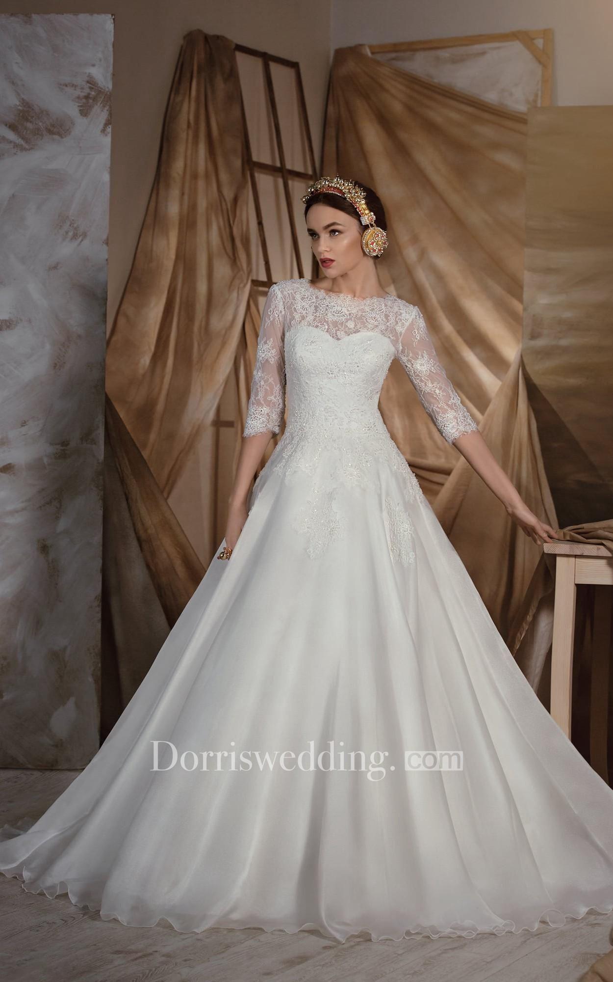 Dorris wedding dorris wedding aline floorlength bateau half