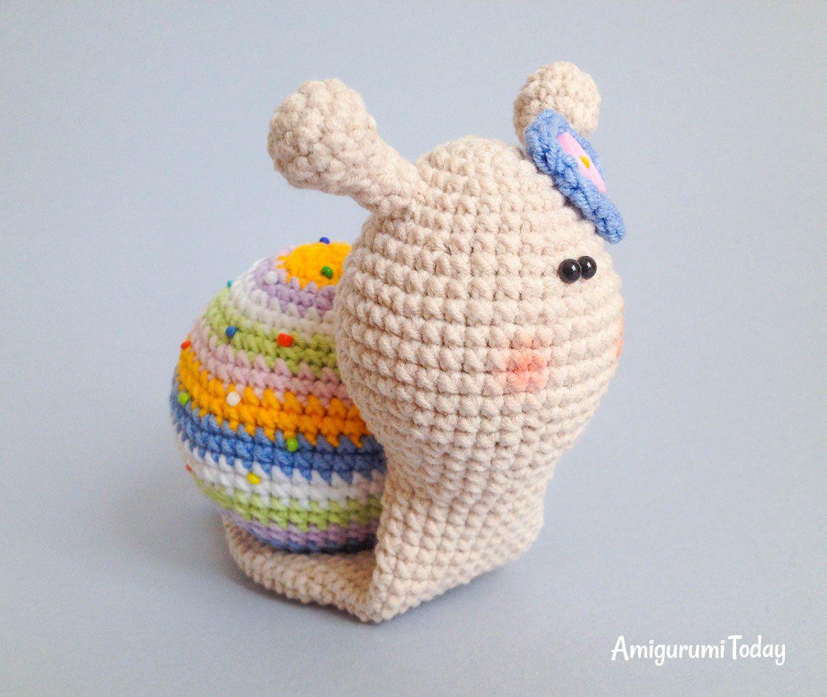 Free lady snail amigurumi pattern | amigurumis | Pinterest ...