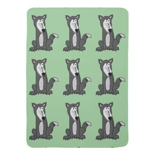 Funny Grey Wolf Baby Blanket #wolf #baby #blanket #grey #cute #animals And www.zazzle.com/inspirationrocks*