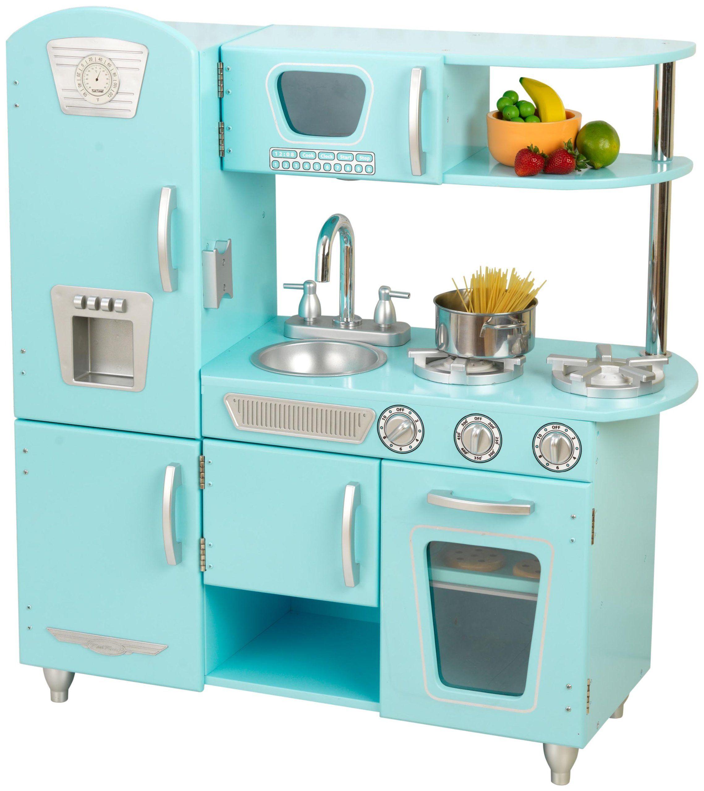 Amazon Com Kidkraft Vintage Kitchen In Blue Toys Games