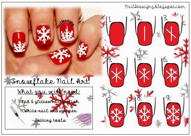 Http Naildeesignz Blogspot Co Uk 2014 12 Snowflake Nail Art Html Snowflake Nail Art Nail Art Tutorial Christmas Nail Art Designs
