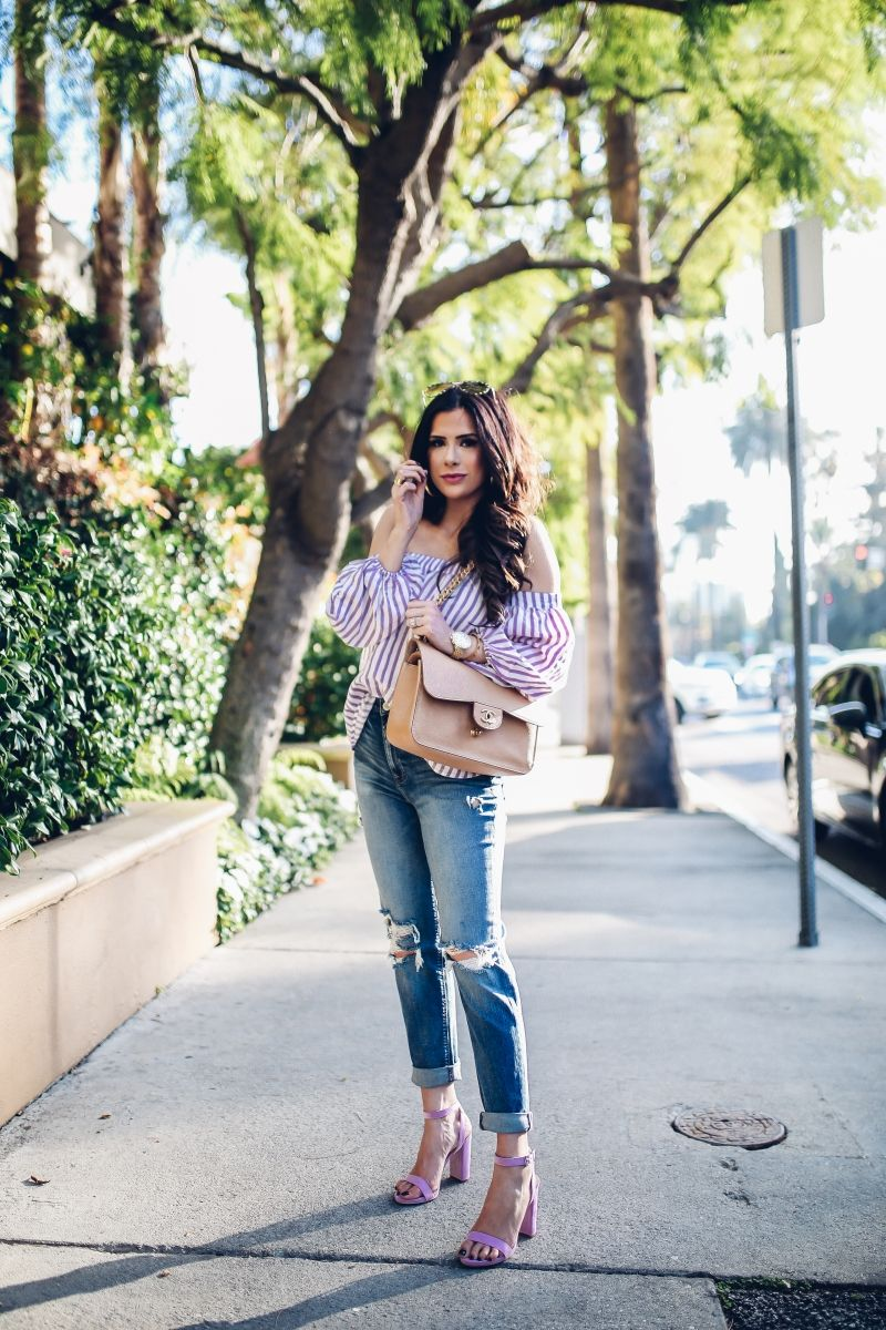 bc88857a8262e JANUARY 21, 2018 - OUTFIT DETAILS: TOP: Express c/o | GIRLFRIEND JEANS:  Express c/o | HEELS: Express c/o | HANDBAG: Chanel | WATCH: Michele |  EARRINGS: Free ...