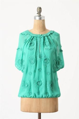 Anthropologie Windflower Blouse