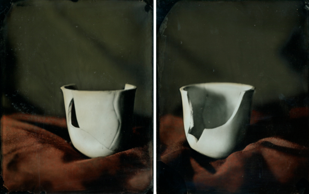 portrait of a broken cup by Heather F. Wetzel ------ Printing with Silver & Iron
