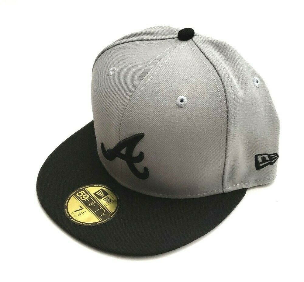 united kingdom competitive price release info on New Era Atlanta Braves Fashion Color 59Fifty Gray/Black Fitted Hat ...