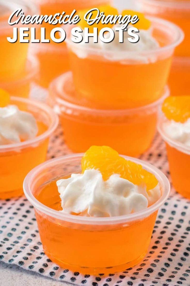 Creamsicle Orange Jello Shots