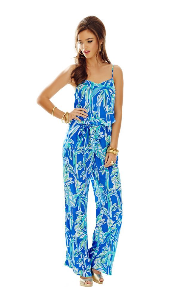 f19bf6dc390 Deanna Tank Top Jumpsuit - Lilly Pulitzer Blue Crush Bamboom