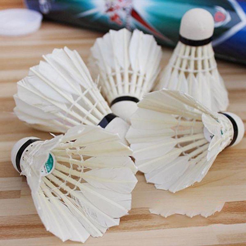 12Pcs plumes volants formation Badminton balle durable Birdies Game Sports.