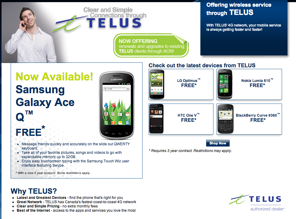 Get your own Online Telus Store. Now you can cell yourself