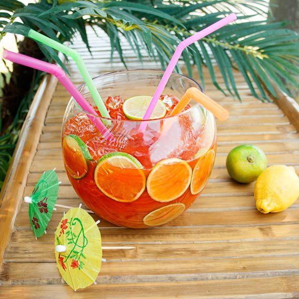 Glass cocktail fish bowl 92oz drinks for Fish bowl drink recipe