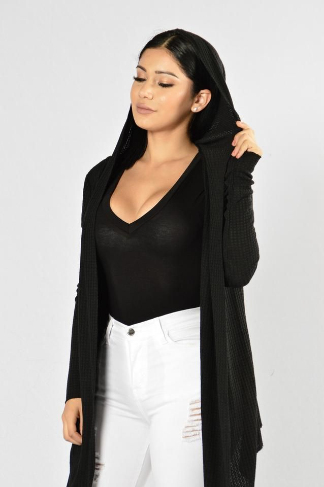 It's My Lazy Day Cardigan - Black