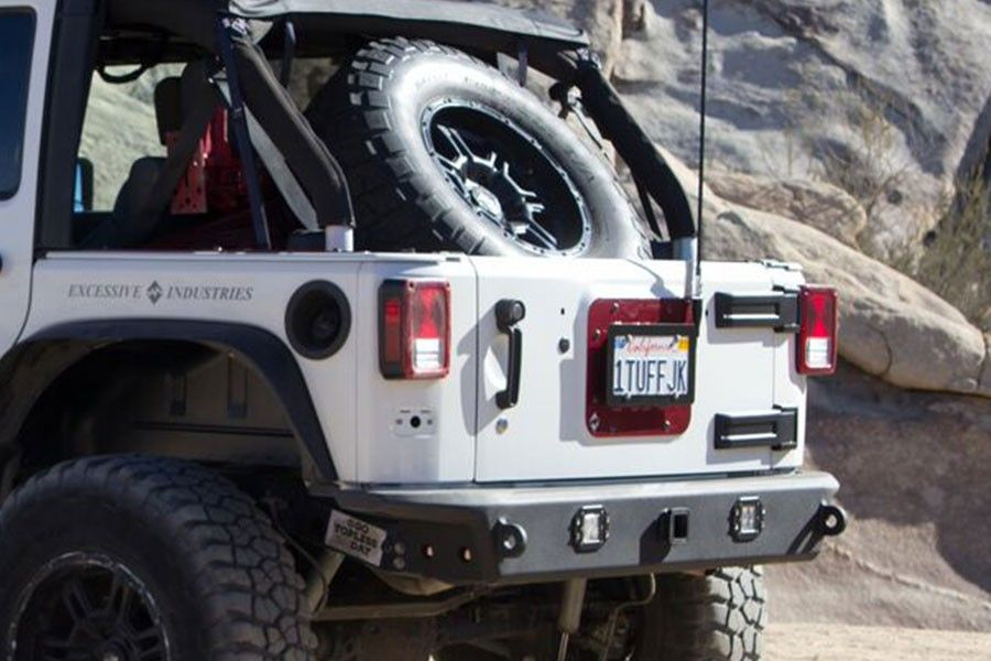 Excessive Industries Gate Keeper Tire Carrier Wrangler Jku Wall Mount Bike Rack Lifted Jeep Tire