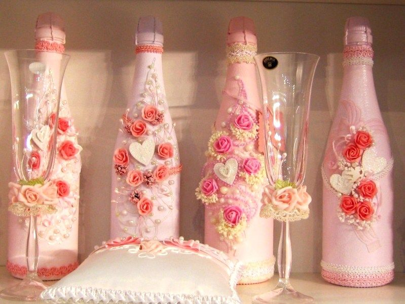How To Decorate A Champagne Bottle For Weddings Many Ideas The