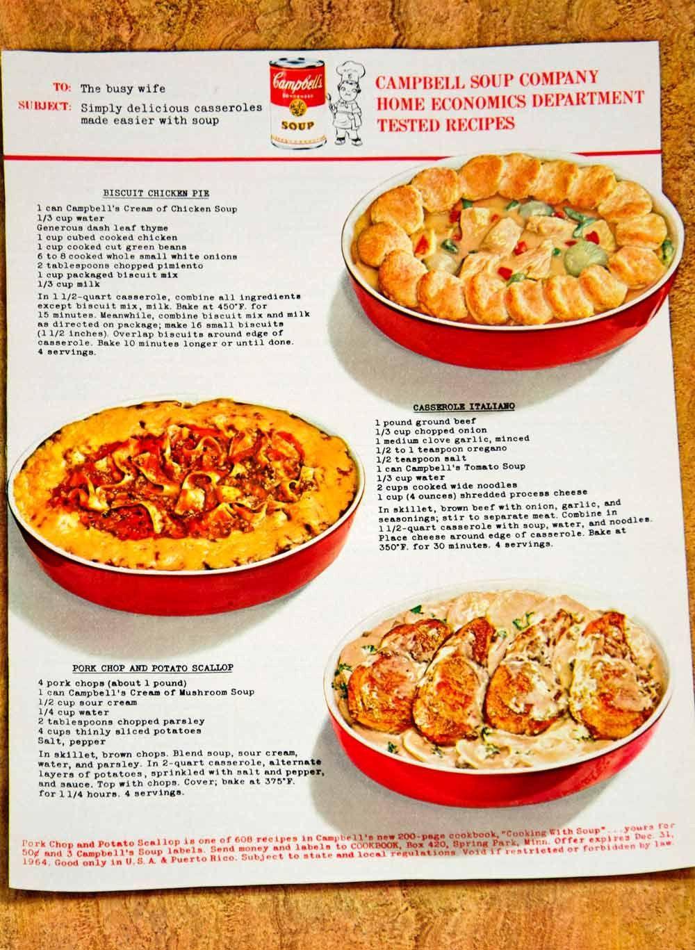 Old Fashion Mushroom Soup Chicken Recipie