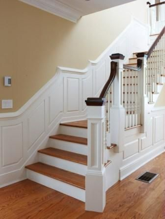Best Love The Uncarpeted Steps And Wainscoting And Pretty Newel 400 x 300
