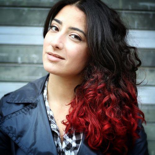 Dip Dye Diva Maroon Hair Maroon Hair Dye Curly Hair Styles