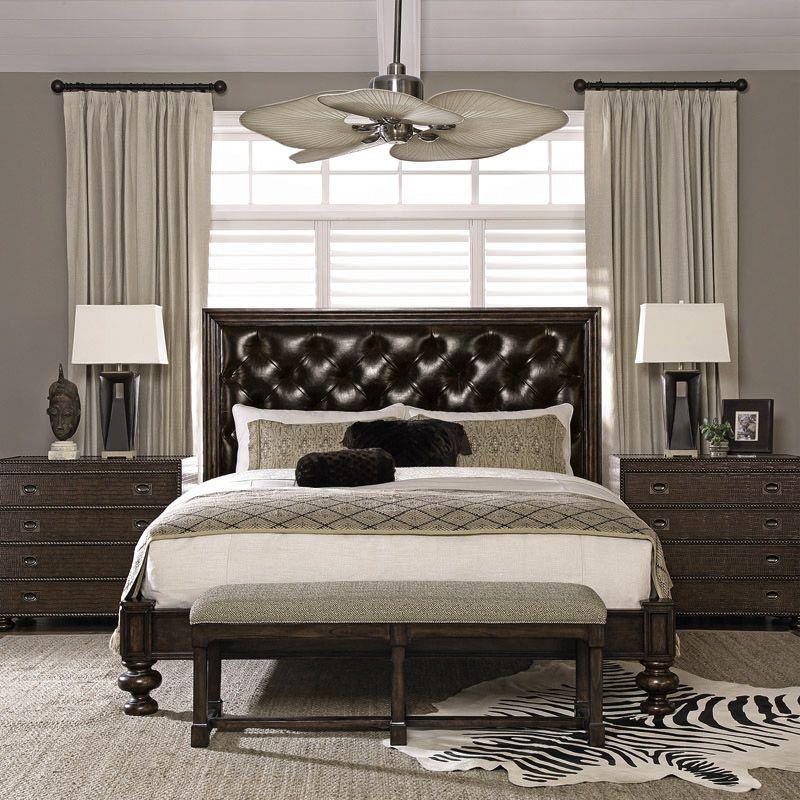 Bernhardt Furniture Commonwealth Leather Bedroom Set