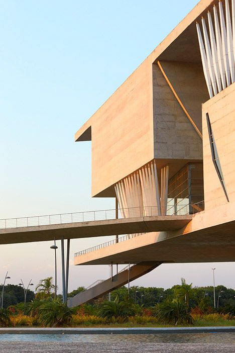 Concrete Cultural Complex In Rio De Janeiro Architecture