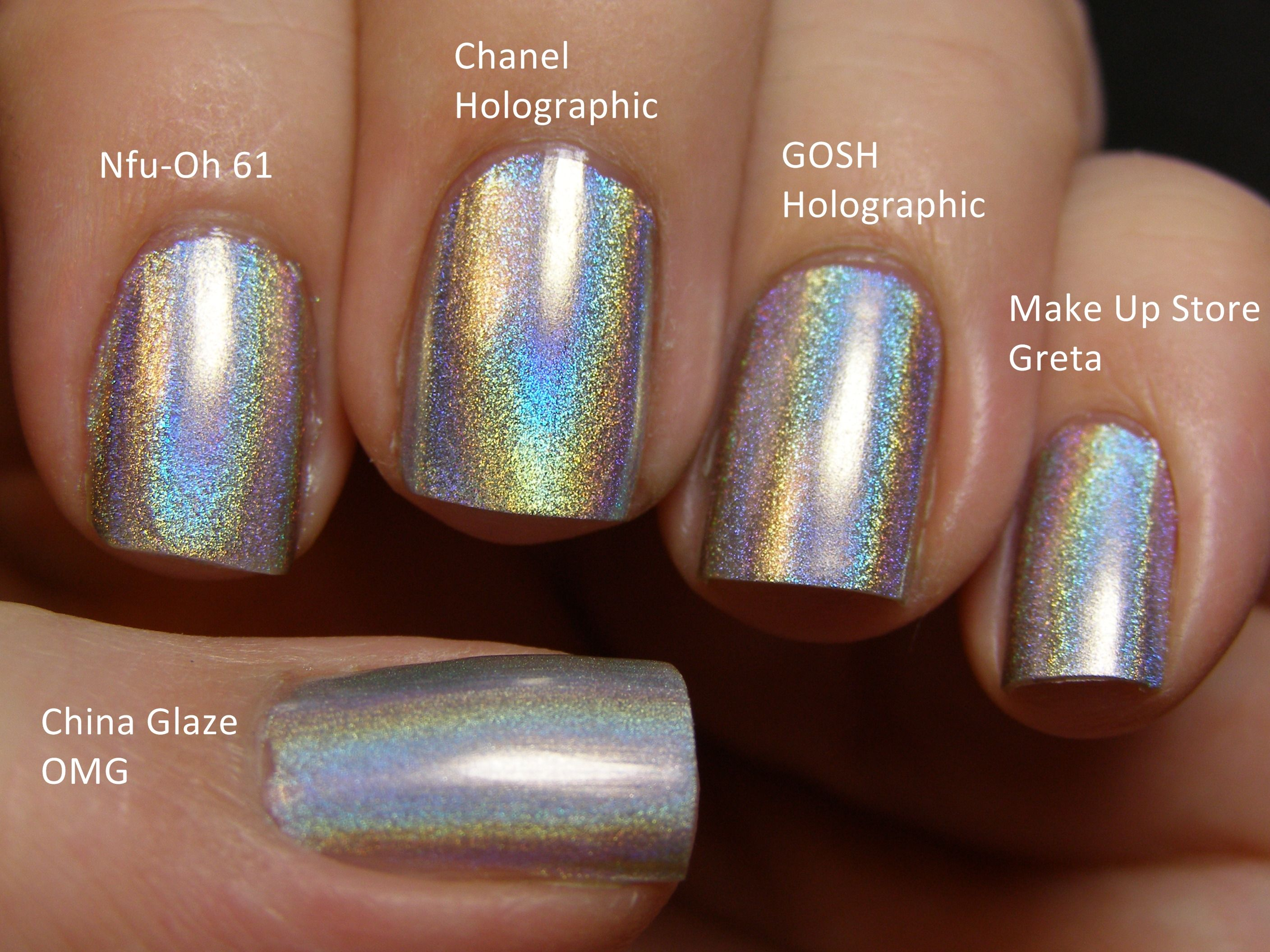 Comparing Holographic nail polishes. I have been looking for a good ...