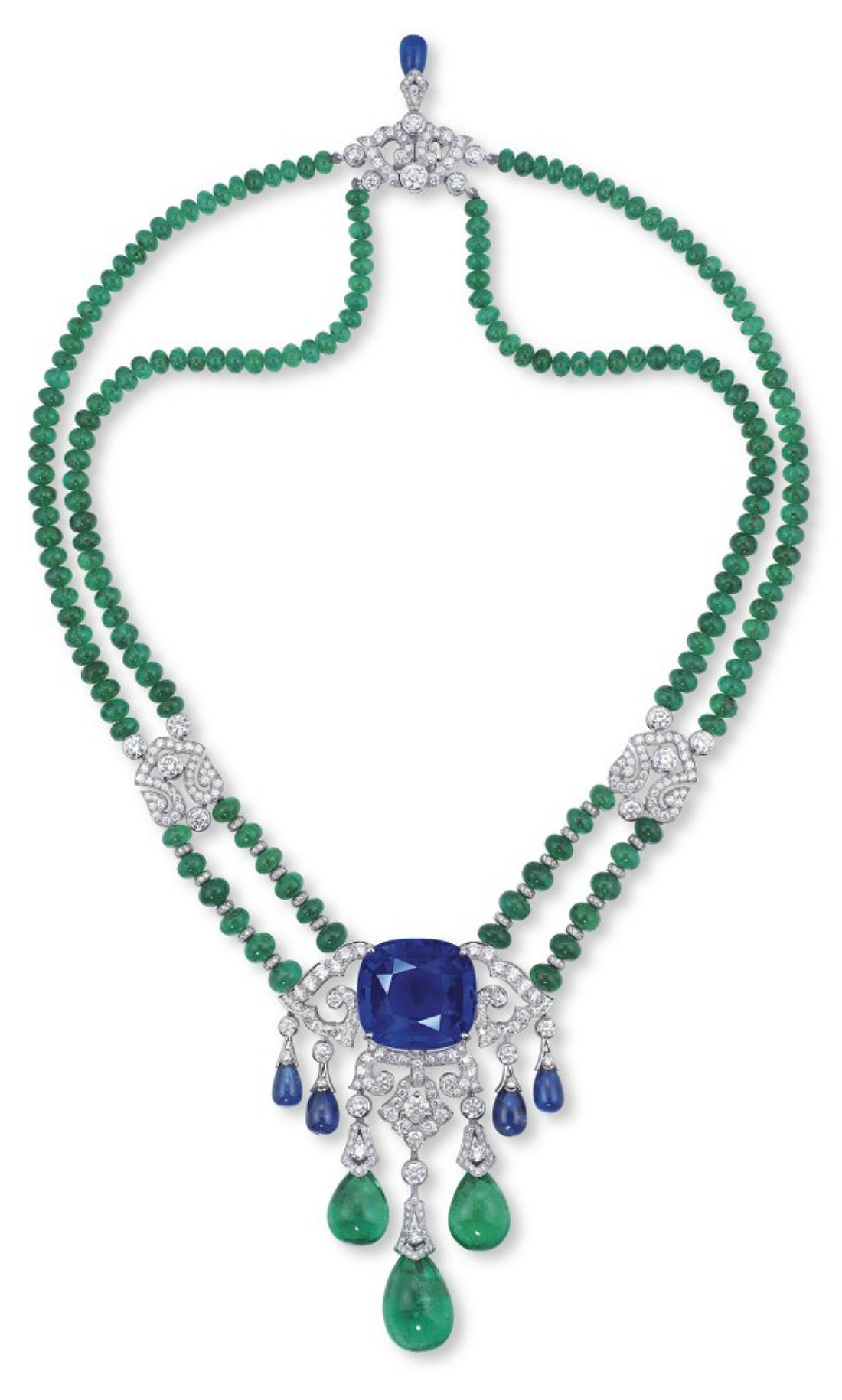 necklace diamond cartier emerald brooch by a pendent pin and sapphire