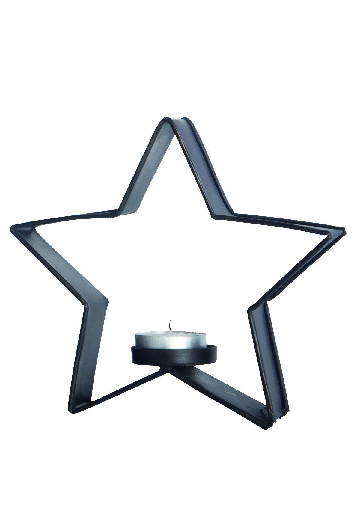House Doctor Metalstjerne med fyrfadsholder