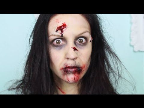comment faire un maquillage de zombie pour l'halloween! / walking