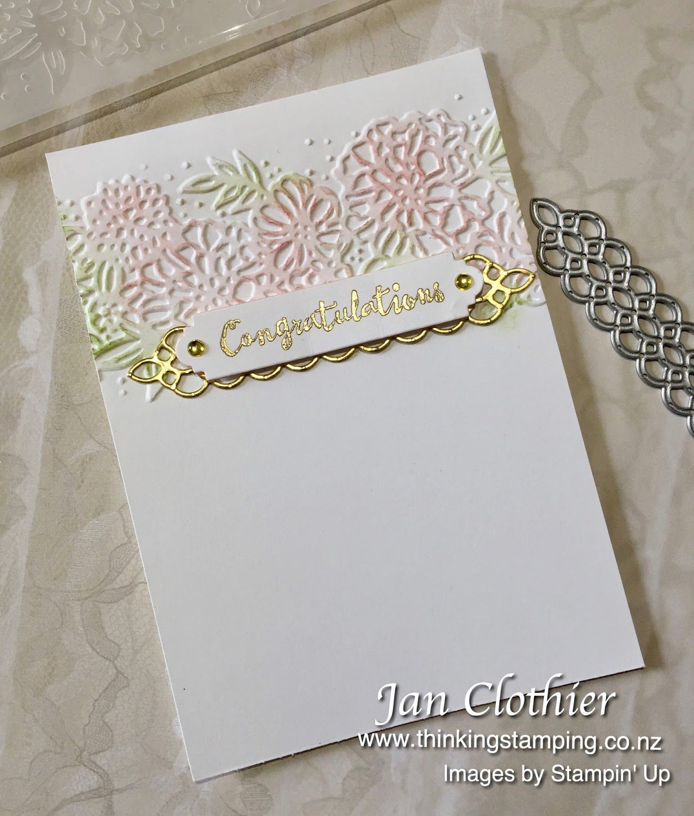 Jan Clothier Independent Stampin Up Demonstrator New Zealand Greeting Card Inspiration Anniversary Cards Stampin Up Wedding Invitations
