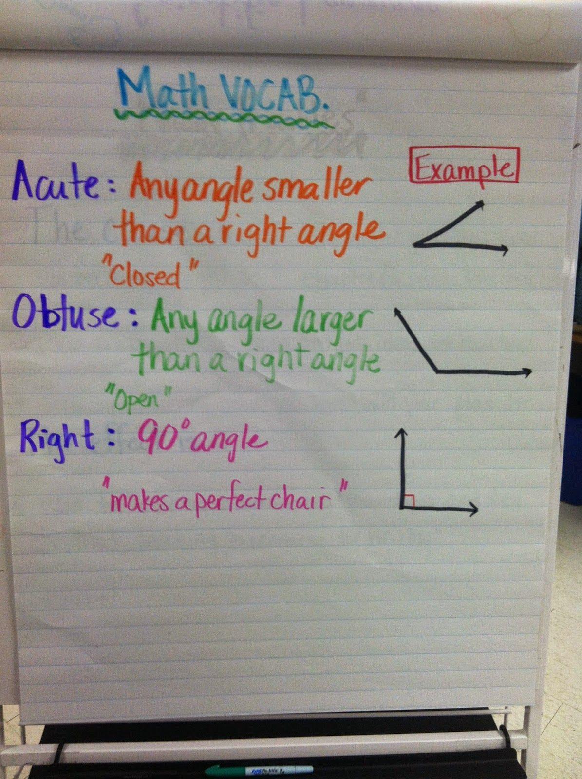 Acute/ Obtuse/ Right Angles 5th grade math, 4th grade