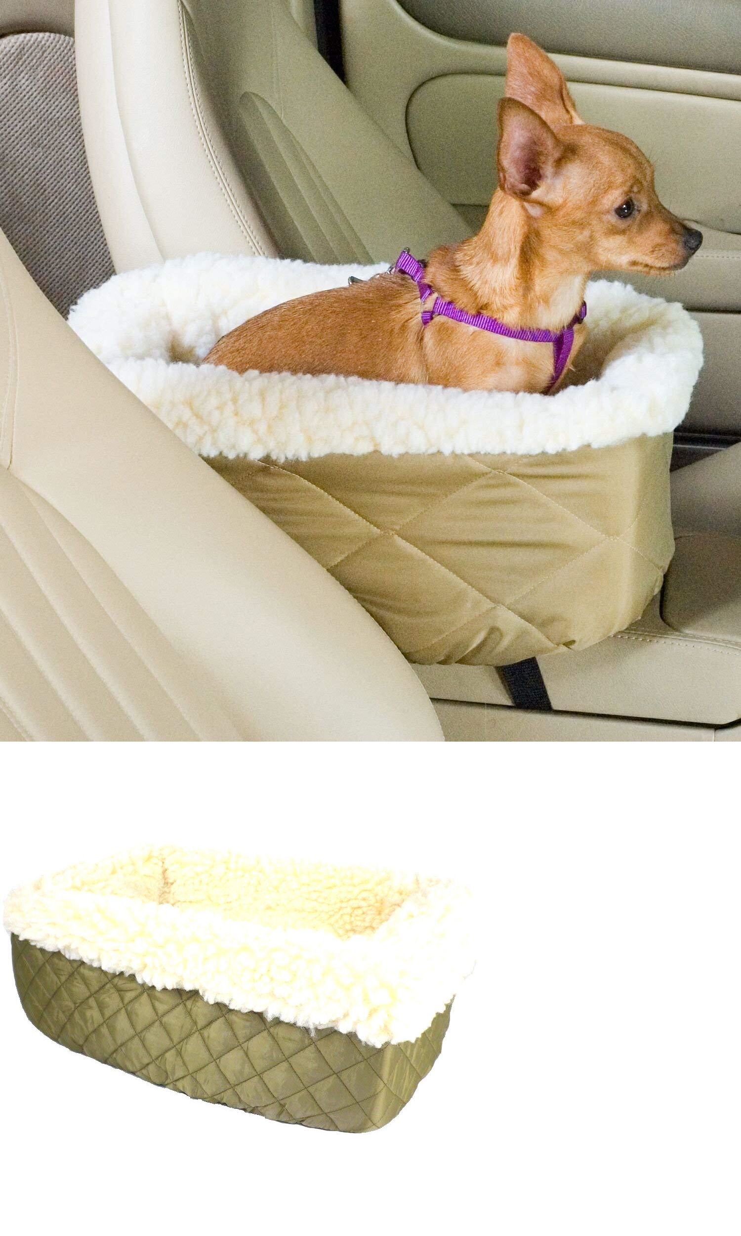 Car Seats And Barriers 46454 Snoozer Lookout Pet Dog Cat Seat Small Khaki Cream Sherpa Booster Bed BUY IT NOW ONLY 25 On EBay