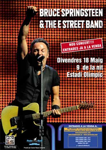 Doctor Music Google Bruce Springsteen E Street Band Concert Posters