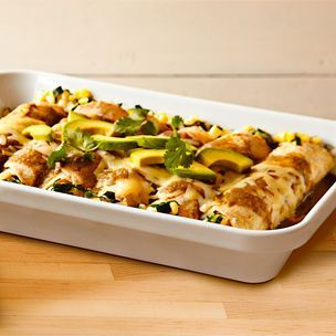 Chicken and Summer Vegetable Enchiladas Verde | Williams-Sonoma