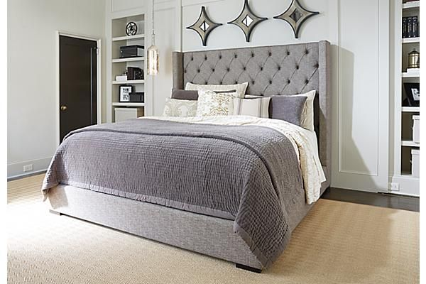 the sorinella upholstered bed from ashley furniture homestore afhs rh pinterest com