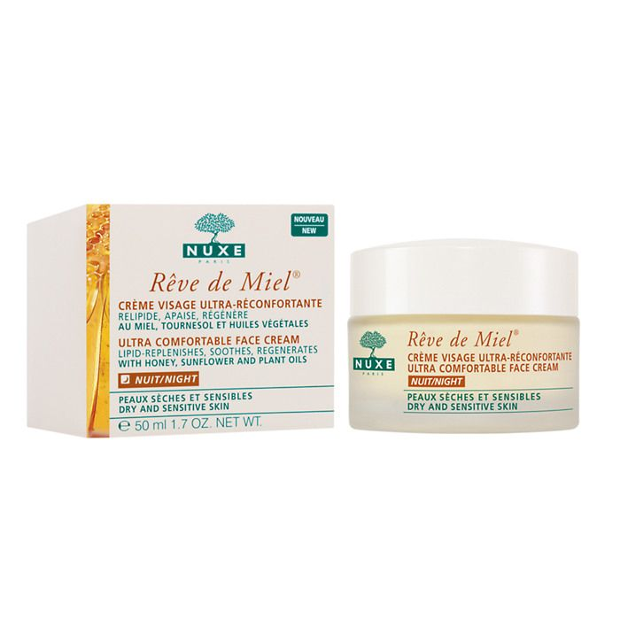 Nuxe Reve De Miel Ultra Comfortable Face Night Cream, 1.7 Oz Kiss My Face Potent and Pure Antioxidant Toner Spray