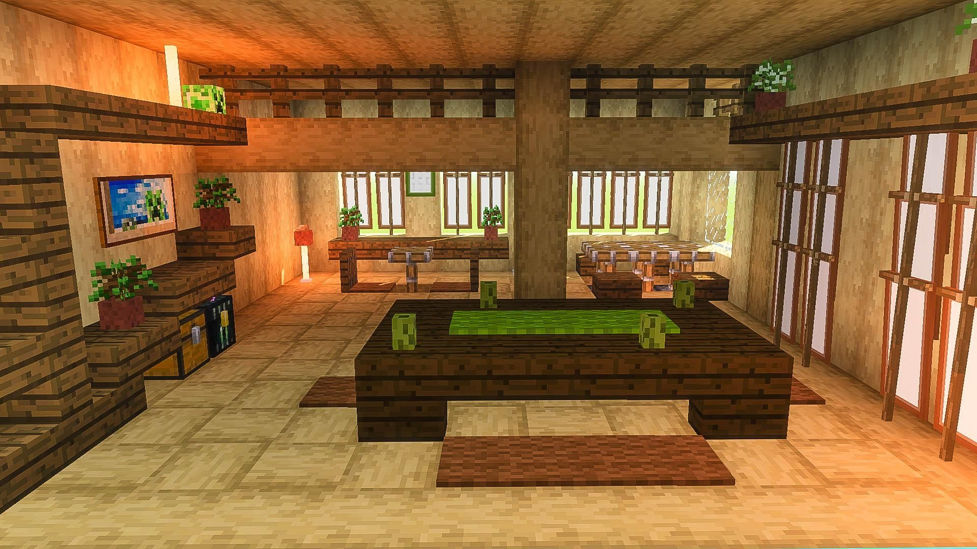 Japanese Inn Interior Minecraft Minecraft Room Minecraft