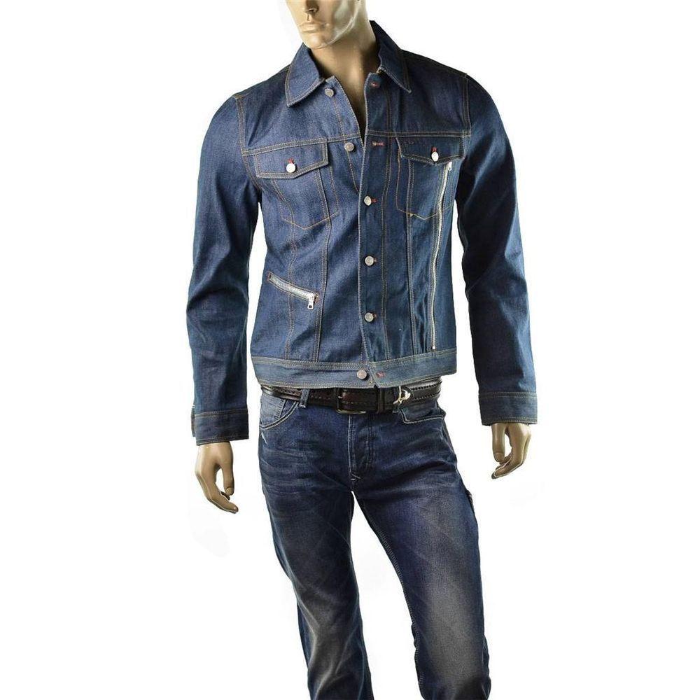 Armani Exchange Jacket Mens AX Denim Jean Jacket Utility