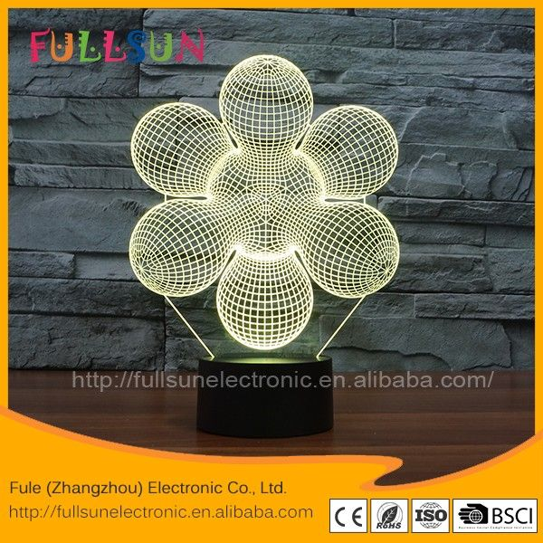 FS-3143 Virtual spiral shape 3D illusion bulb lamp - Led night light - table desk lamp